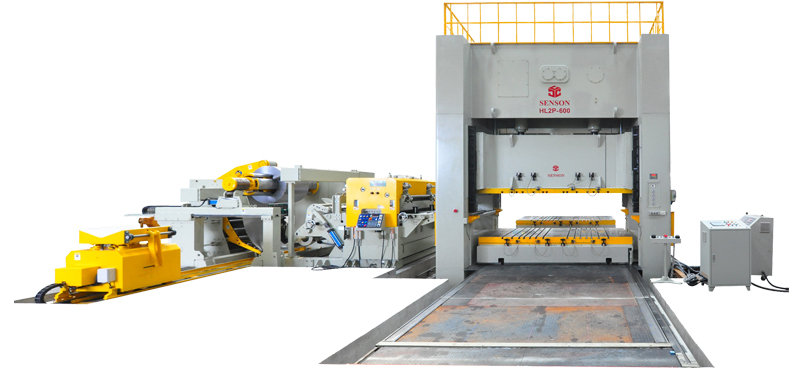 H-Frame double crank link motion precision power press-600tons(moving bolster)